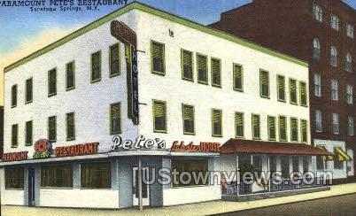 Paramount Pete's Restaurant - Saratoga Springs, New York NY Postcard
