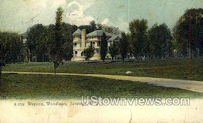 Wayside, Woodlawn - Saratoga Springs, New York NY Postcard