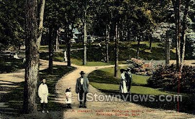 Spring Park - Saratoga Springs, New York NY Postcard