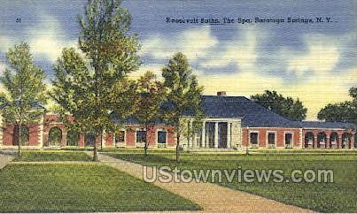 Roosevelt Bath - Saratoga Springs, New York NY Postcard