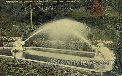 Canfield Gardens - Saratoga Springs, New York NY Postcard