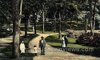 Congress Springs Park - Saratoga Springs, New York NY Postcard
