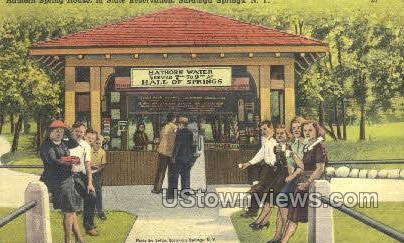Hathorn Spring House - Saratoga Springs, New York NY Postcard