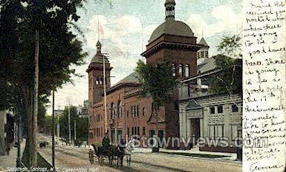 Convention Hall - Saratoga Springs, New York NY Postcard