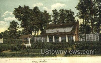 Residence of Chanucy Olcott - Saratoga Springs, New York NY Postcard