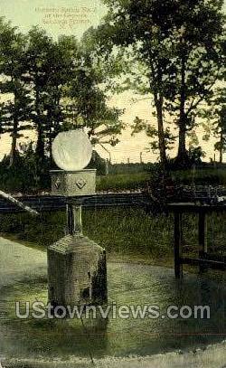 Hathorn Spring No. 2 - Saratoga Springs, New York NY Postcard
