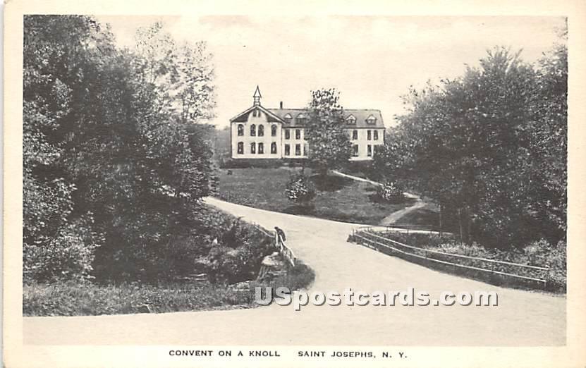 Convent on a Knoll - Saint Josephs, New York NY Postcard
