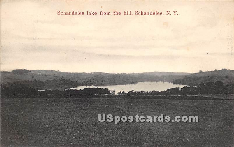 Schandelee Lake from the Hill - Shandelee, New York NY Postcard