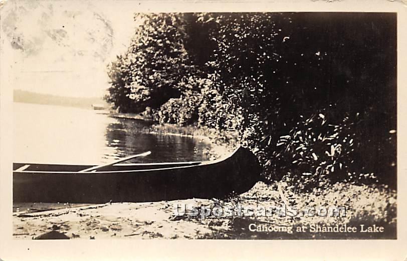 Canoeing - Shandelee, New York NY Postcard
