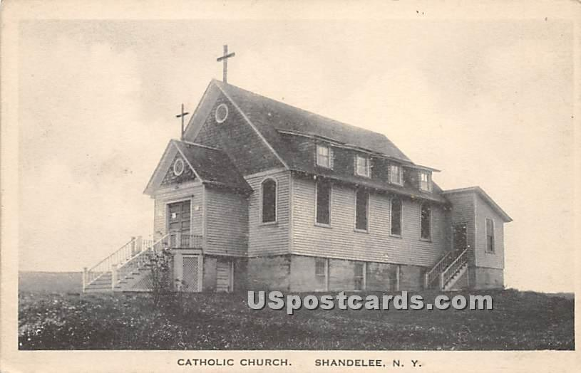 Catholic Church - Shandelee, New York NY Postcard