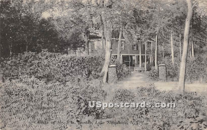 Cottage of Mr. WM Gartup - Shandelee, New York NY Postcard