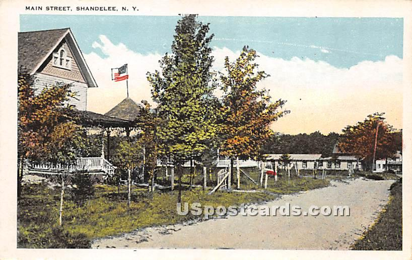 Main Street - Shandelee, New York NY Postcard