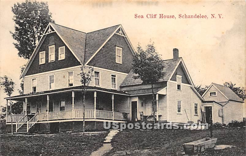 Sea Cliff House - Shandelee, New York NY Postcard