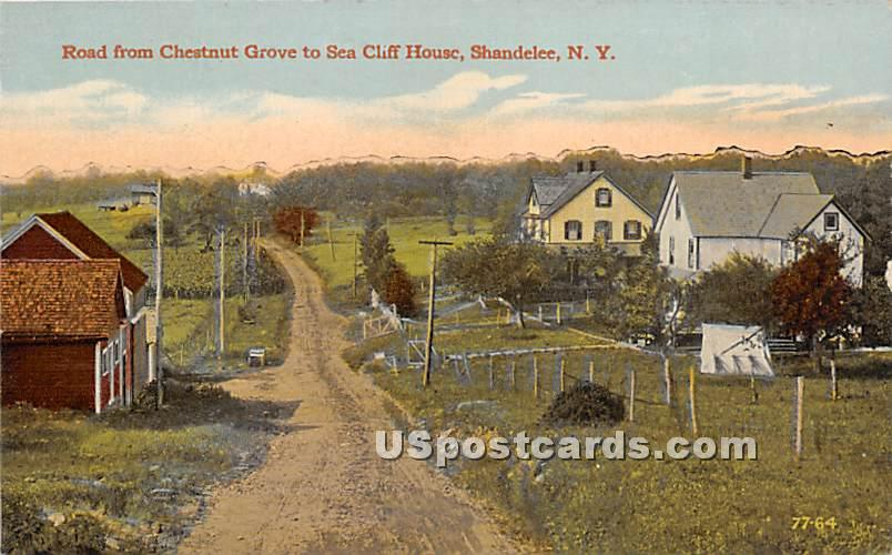 Road from Chestnut Grove to Sea Cliff House - Shandelee, New York NY Postcard