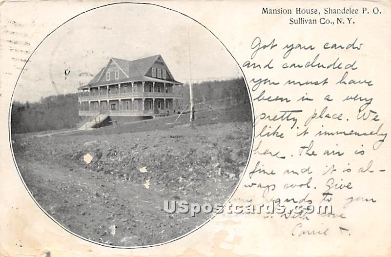 Mansion House - Shandelee, New York NY Postcard