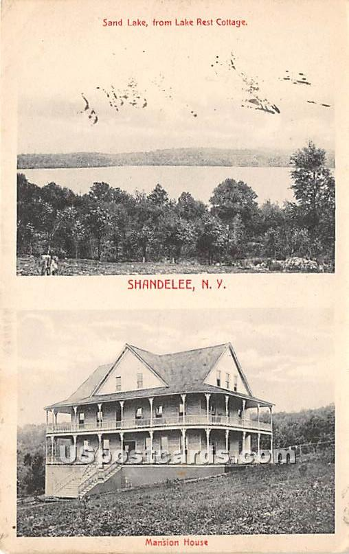 Sand Lake from Lake Rest Cottage - Shandelee, New York NY Postcard