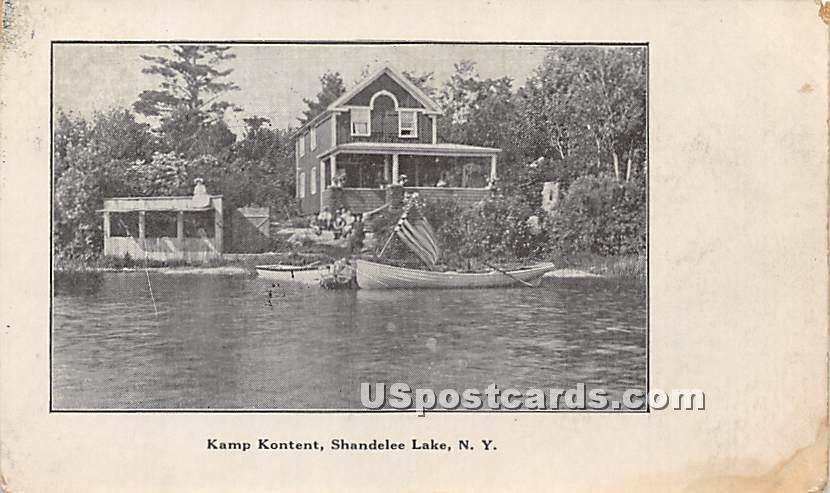 Kamp Kontent Cottage - Shandelee, New York NY Postcard