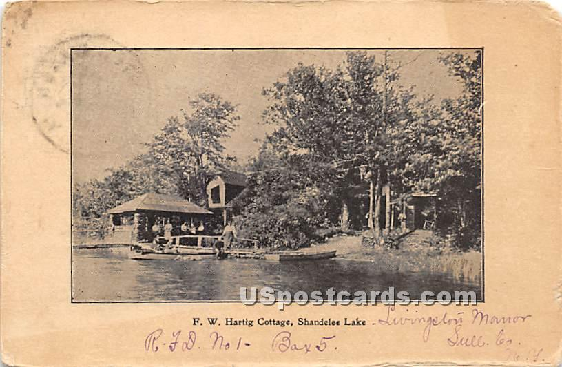 F W Hartig Cottage - Shandelee, New York NY Postcard