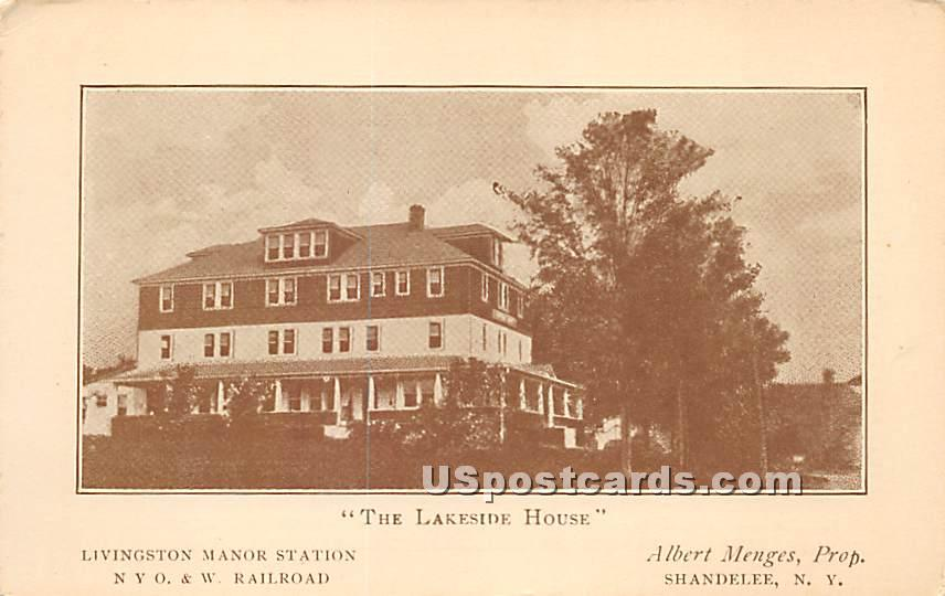 The Lakeside House - Shandelee, New York NY Postcard