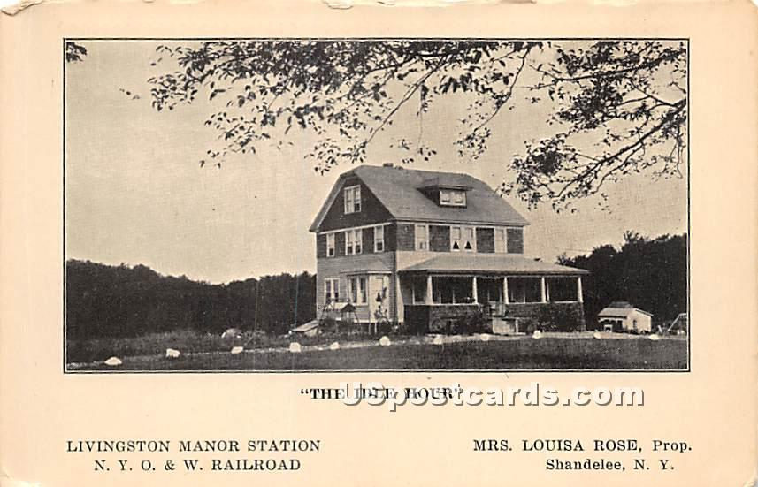 The Idle Hour - Shandelee, New York NY Postcard