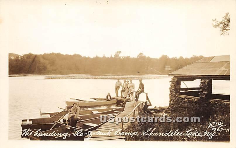 Landing, Ko-Z-Nuk Camp - Shandelee, New York NY Postcard