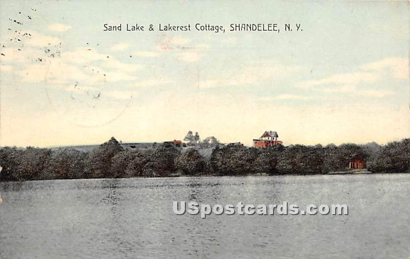 Sand Lake & Lakerest Cottage - Shandelee, New York NY Postcard