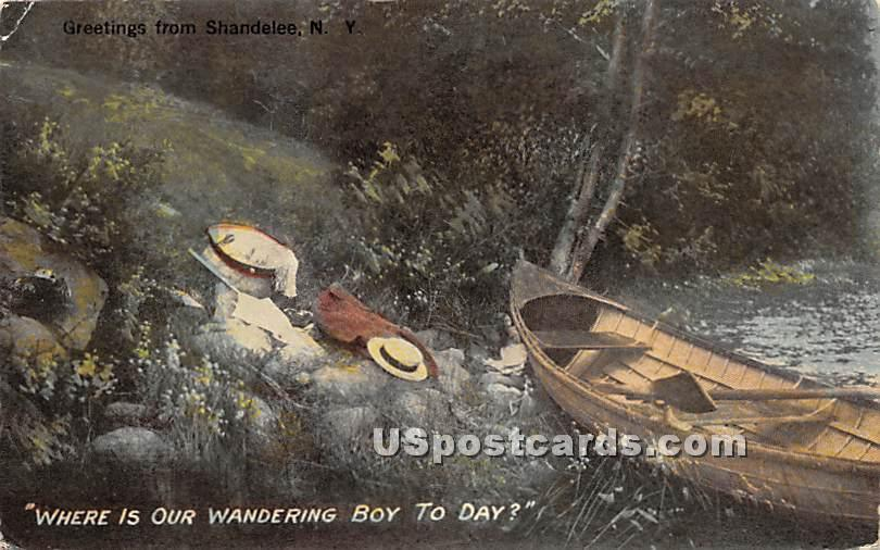 Where is Our Wandering Boy to Day - Shandelee, New York NY Postcard