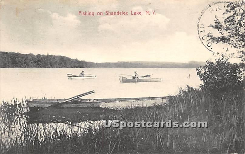 Fishing - Shandelee, New York NY Postcard