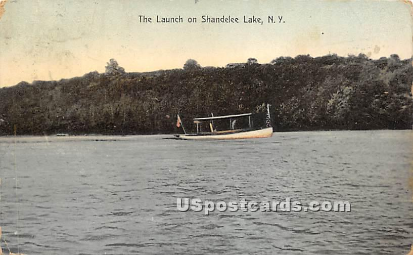 The Launch - Shandelee, New York NY Postcard