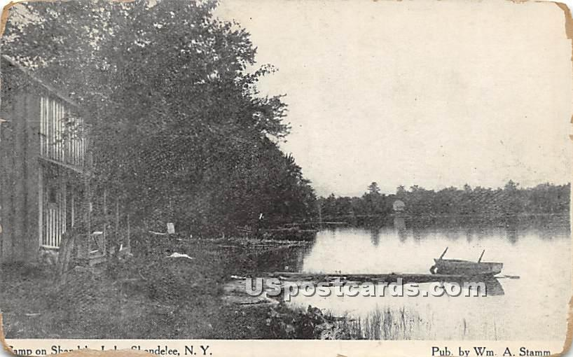 Camp of Shandelee Lake - New York NY Postcard