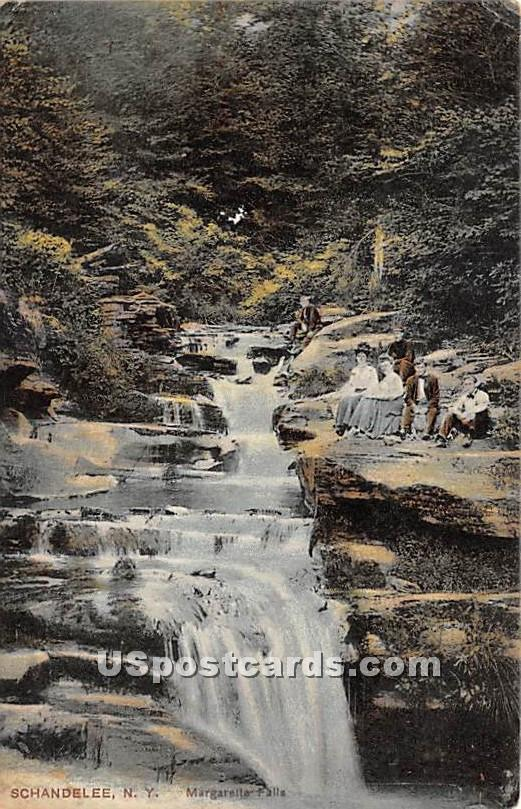 Margarette Falls - Shandelee, New York NY Postcard