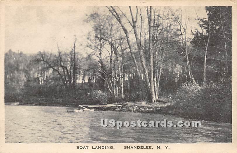 Boat Landing - Shandelee, New York NY Postcard