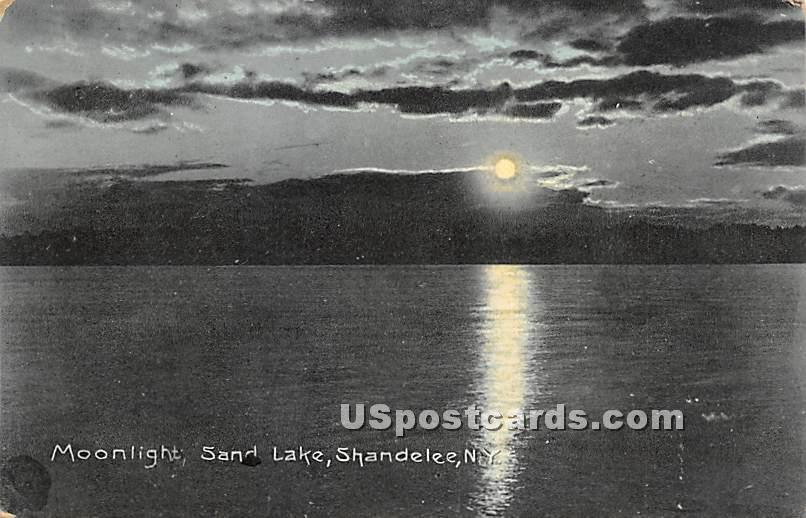 Moonlight, Sand Lake - Shandelee, New York NY Postcard