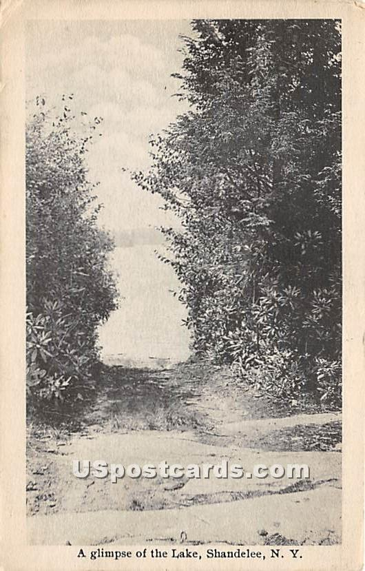 Glimpse of the Lake - Shandelee, New York NY Postcard