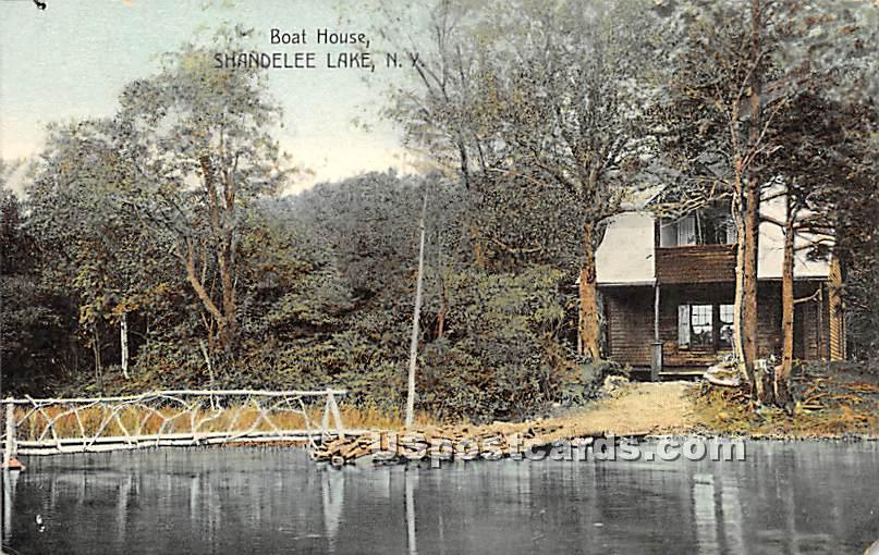 Boat House - Shandelee, New York NY Postcard