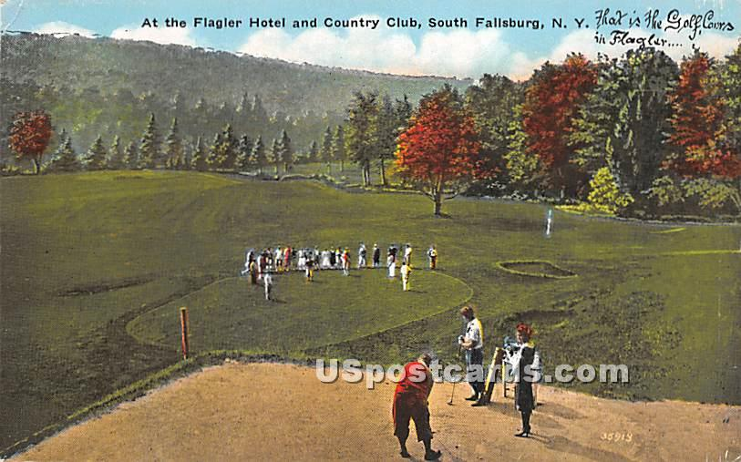 The Flagler Hotel and Country Club - South Fallsburg, New York NY Postcard