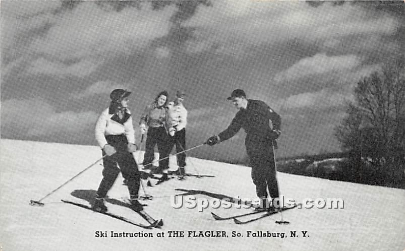Ski Instruction - South Fallsburg, New York NY Postcard