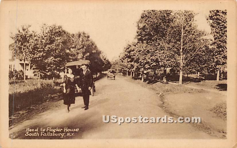 Road to Flagler House - South Fallsburg, New York NY Postcard