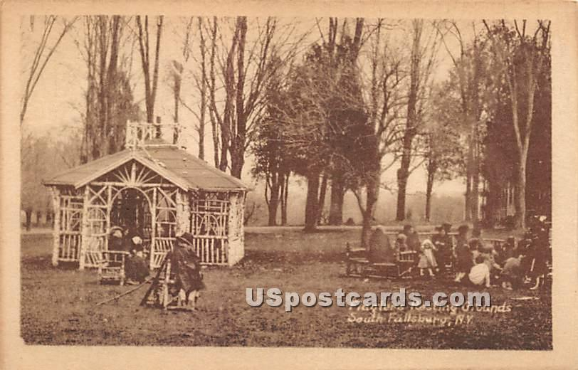 Flagler's Resting Grounds - South Fallsburg, New York NY Postcard