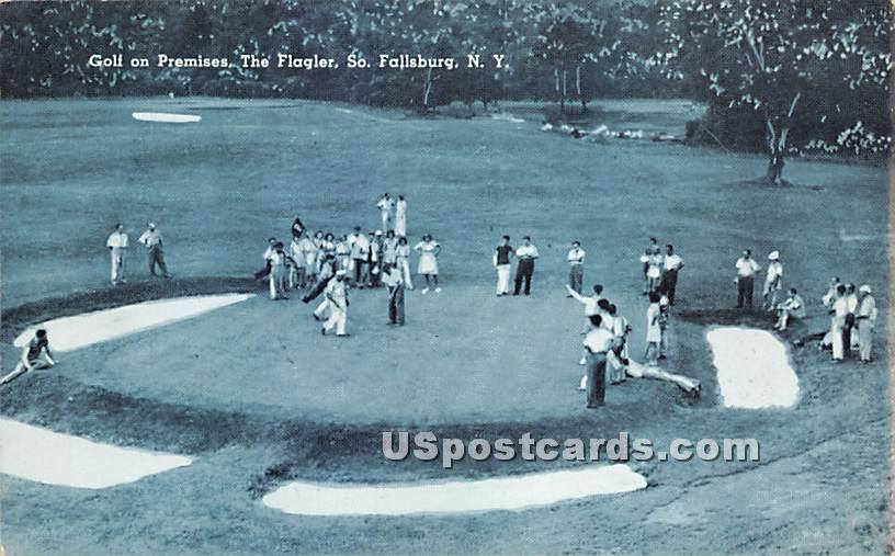 Golf on Premises - South Fallsburg, New York NY Postcard