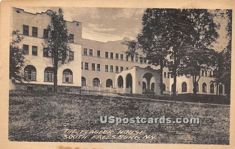The Flagler House - South Fallsburg, New York NY Postcard