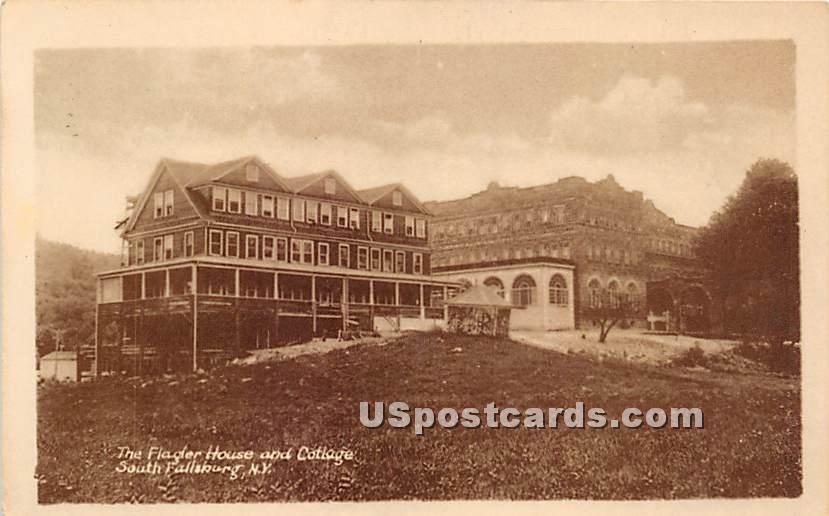 The Flagler House & Cottage - South Fallsburg, New York NY Postcard