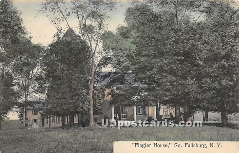 Flagler House - South Fallsburg, New York NY Postcard