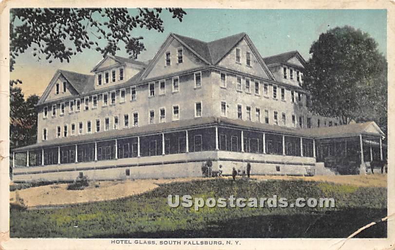 Hotel Glass - South Fallsburg, New York NY Postcard