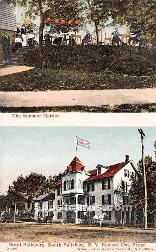Summer Garden - South Fallsburg, New York NY Postcard