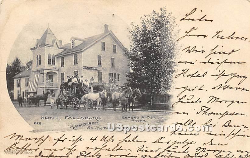 Hotel Fallsburg - South Fallsburg, New York NY Postcard