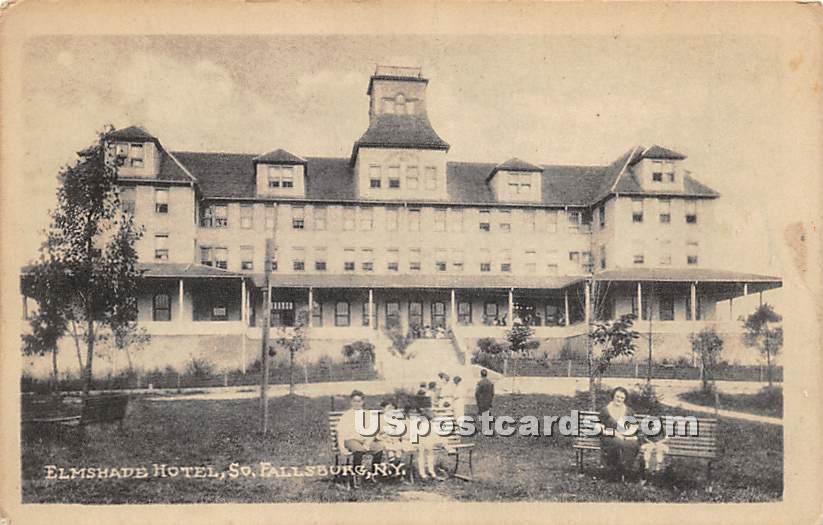Elmshade Hotel - South Fallsburg, New York NY Postcard