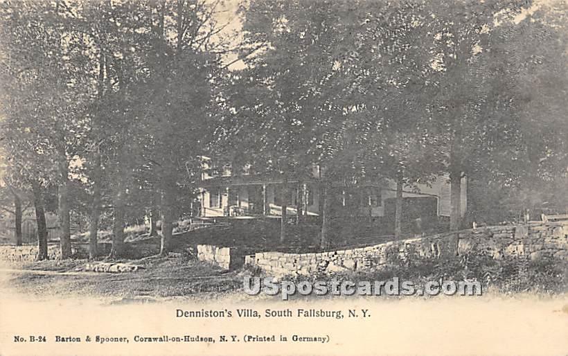 Denniston's Villa - South Fallsburg, New York NY Postcard