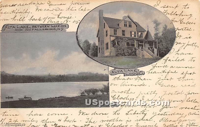 Alta Lake - South Fallsburg, New York NY Postcard