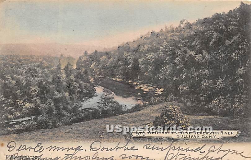 Whittaker's Bend - South Fallsburg, New York NY Postcard